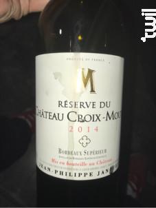 RESERVE du CHÂTEAU CROIX MOUTON - Château Croix-Mouton - 2012 - Rouge