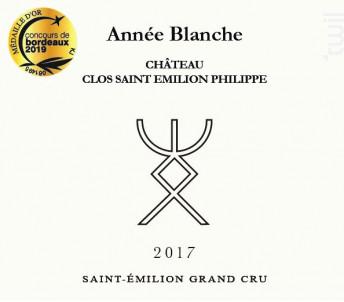Année Blanche - Château Clos Saint-Emilion Philippe - 2017 - Rouge