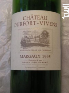 Château Durfort-Vivens - Château Durfort-Vivens - 1995 - Rouge