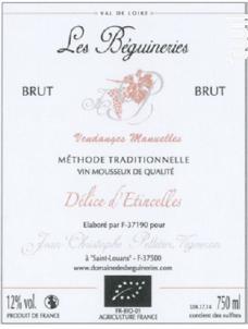 Délice d'Étincelles - Domaine des Béguineries - Non millésimé - Effervescent