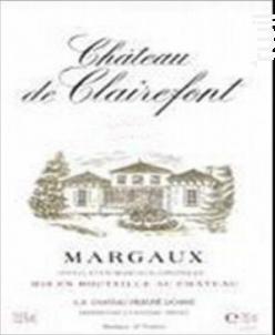 Château de Clairefont - Château de Clairefont - Prieuré Lichine - 2015 - Rouge