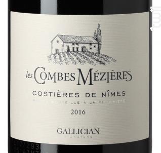 LES COMBES MEZIÈRE - La Cave de Gallician - 2016 - Rouge