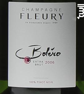 Boléro Extra Brut - Champagne Fleury - 2009 - Effervescent