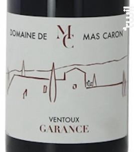 GARANCE - DOMAINE DE MAS CARON - 2016 - Rouge