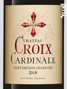 Château La Croix Cardinale - Château La Croix Cardinale - 2018 - Rouge