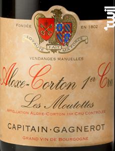 ALOXE-CORTON 1ER CRU «Les Moutottes» - Maison Capitain-Gagnerot - 2008 - Rouge