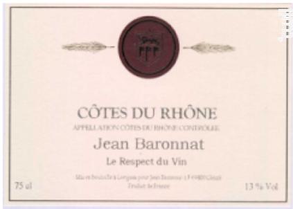 Côtes du Rhône - Baronnat Jean - 2017 - Rouge