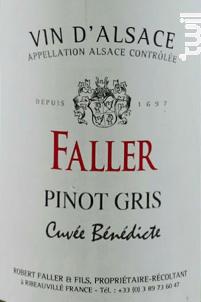 Cuvée Bénédicte - Robert Faller et Fils - 2018 - Blanc