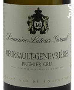 Meursault-Genevrieres 1er cru - Domaine Latour-Giraud - 2012 - Blanc