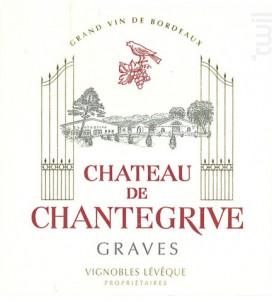 Château Chantegrive - Château de Chantegrive - 2011 - Rouge