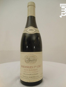 Maranges Premier Cru Clos Rousseau - Domaine Sorine et Fils - 2004 - Rouge