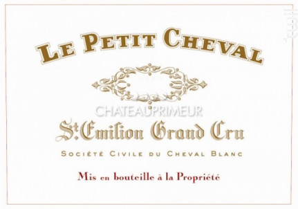Le Petit Cheval - Château Cheval Blanc - 2018 - Rouge