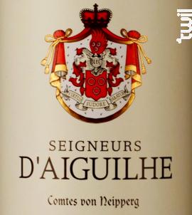 Seigneurs d'Aiguihle - Vignobles Comtes Von Neipperg - 2016 - Rouge