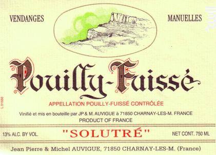 Pouilly-Fuissé - Solutré - Domaine Auvigue - 2018 - Blanc