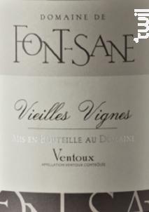 Vieilles Vignes - Domaine de Font-Sane - 2017 - Rouge