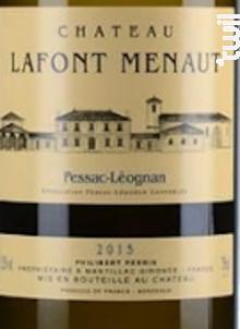 Lafont Menaut - Famille Perrin - Château Lafont Menaut - 2018 - Blanc