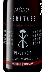 PINOT NOIR HÉRITAGE - VIEILLES VIGNES - Louis Hauller - Non millésimé - Rouge