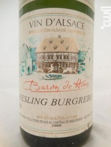 Baron De Hoen Riesling - Cave de Beblenheim - 1997 - Blanc