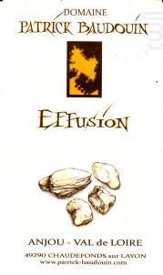 Effusion - Domaine Patrick Baudouin - 2016 - Blanc