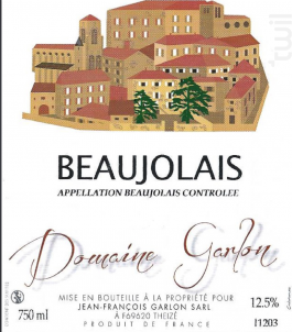 Beaujolais - Domaine Garlon - 2014 - Rosé