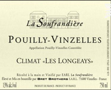 POUILLY VINZELLES Les Longeays - Bret Brothers- La Soufrandière - 2013 - Blanc