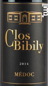 Clos Bibily - Clos Bibily - 2014 - Rouge