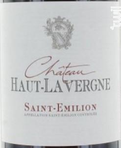 Château Haut-Lavergne - Château Haut-Lavergne - 2014 - Rouge