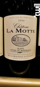 Château La Motte - Château La Motte - Michel et Xavier Valet - 2016 - Rouge