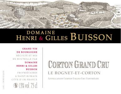 Corton Grand Cru Le Rognet-et-Corton - Domaine Henri & Gilles Buisson - 2014 - Rouge