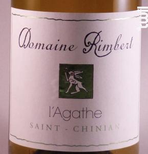 L'Agathe - Domaine Rimbert - 2017 - Blanc