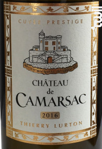 Cuvée Prestige Blanc - Château de Camarsac - 2016 - Blanc