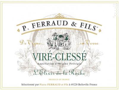 L'Elixir de la Roche - P. Ferraud & Fils - 2018 - Blanc