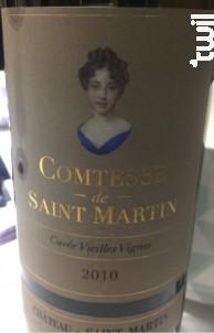 Comtesse Vieilles Vignes - Château de Saint-Martin - 2016 - Rouge