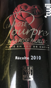 La Rose pourpre - La Rose Pauillac - 2010 - Rouge