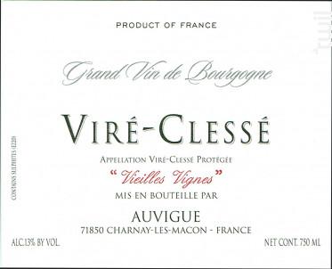 Viré - Clessé - Domaine Auvigue - 2019 - Blanc
