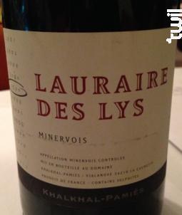 Lauraire des Lys - Khalkhal-Pamiès - 2016 - Rouge