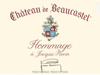Hommage à Jacques Perrin - Famille Perrin - Château de Beaucastel - 2010 - Rouge