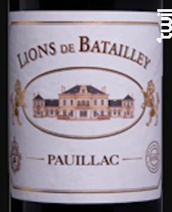 Lions De Batailley - Château Batailley - 2016 - Rouge
