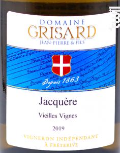 Jacquère - Vieilles Vignes - Domaine Grisard Jean-Pierre et fils - 2019 - Blanc