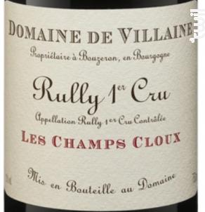 Rully Premier cru Les Champs Cloux - Domaine de Villaine - 2018 - Rouge