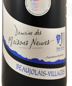 Beaujolais Village - Domaine des Maisons Neuves - 2016 - Rouge