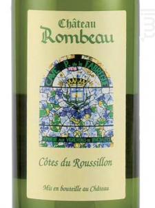 Château Rombeau Côtes du Roussillon - Château de Rombeau - 2018 - Blanc
