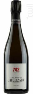 Jacquesson Cuvée 742 - Champagne Jacquesson - Non millésimé - Effervescent