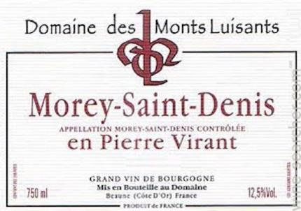 Morey-Saint-Denis En Pierre Virant - Domaine des Monts Luisants - 2009 - Rouge
