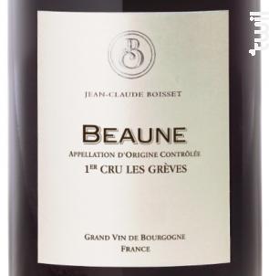 Beaune Premier Cru Les Grèves - Jean-Claude Boisset - 2013 - Rouge