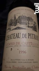 Château de Pitray - Château de Pitray - 1990 - Rouge