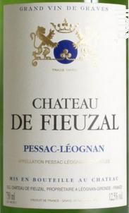 Château de Fieuzal - Château de Fieuzal - 2016 - Blanc