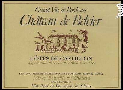 Château de Belcier - Château de Belcier - 2010 - Rouge