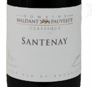 SANTENAY - Domaine Maldant - Pauvelot - 2015 - Rouge