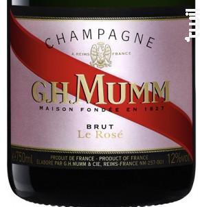 Mumm Rosé - G.H. Mumm - Non millésimé - Effervescent